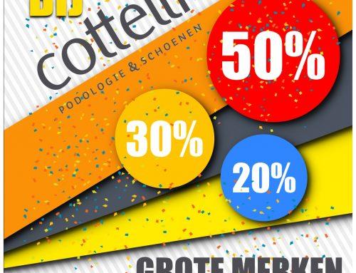 Opruiming bij Cottelli Podologie en Schoenen!  Grote merken, kleine prijzen!
