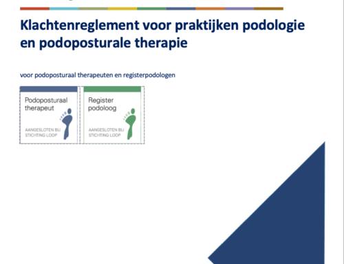 Klachtenreglement voor praktijken podologie en podoposturale therapie